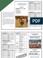 Programa Del Concurso de Danzas