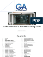 An Introduction to Automatic Sliding Doors