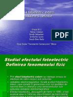 Efectul Fotoelectric Extern Grupa 1