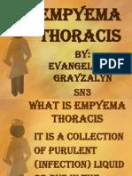 Empyema Thoracis