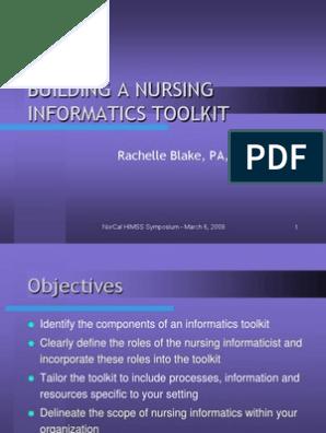 Nursing Informatics Health Informatics Informatics