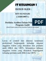 PPT Sundari ( Perilaku Auditor Dalam Pelaksanaan Program Audit )