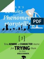 Pixar 22 Rules to Phenomenal Storytelling