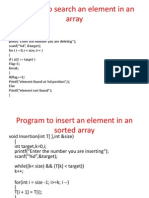Programs of Arrays