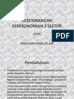 Keseimbangan Perekonomian 2 Sektor