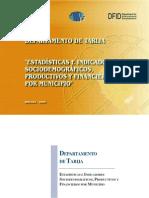 IndicadoresSociodemograficosProductivosFinancierosTarija