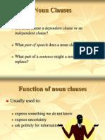 Noun Clauses Based on AR