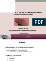 Ley_general_telecomunicaciones_incidencia en Radio y Tv