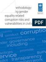 Addressing gender equality related corruption risks and vulnerabilities in civil service methodology