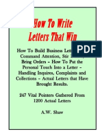 A.W.shaw - How to Write Letters That Win