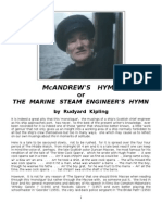 M'Andrew's Hymn - The Marine Steam Engineer's Hymn - Rudyard Kipling - c.1893