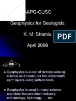 Aapg Cusc- Geophysics for Geologists