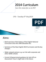 staff 2014 curriculum presentation - brief version for cpd 29 4 14