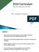 staff 2014 curriculum presentation - brief version for cpd 29 4 14