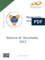 Informe 2012 Fundación Tripartita