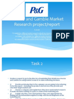 Proctor and Gamble Market Research Project UNIT 10
