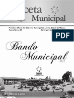 Bando Municipal de Lerma 2012