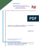 Analisis de La Politica Economica Actual Neoinstitucionalismo