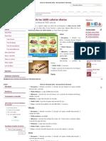 Dieta de Las 1600 Calorías Diarias __ Menú Para Dietas de 1600 Calorías