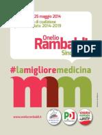 Programma elettorale per Onelio Rambaldi Sindaco di Medicina