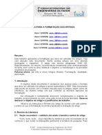 Modelo de Artigo - SIEF 2013