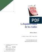 Klauer, Alfonso - La República Federal de los Andes