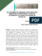 Os Loteamentos Urbanos e Seus Impactos Ambientais e Territoriais