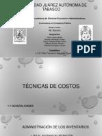 Exposicion Completa de Técnicas de Costos Unidad I