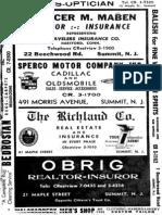 Druid Hill Summit NJ 1958 City Directory