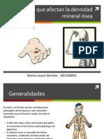 Fármacos que afectan la densidad mineral ósea