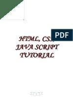 HTML Css Java Tutorial