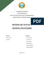 Informe Sistema de Ventas y Financiero