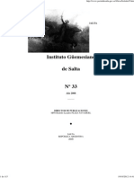 Boletín Nº 33 Del Instituto Güemesiano de Salta