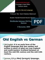 Old English vs German