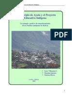 El Municipio de Ayata y el Proyecto Educativo Indigena