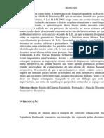 A Importância Da Língua Espanhola Na Escola Pública de Nível Fundamental Na Cidade Piracuruca