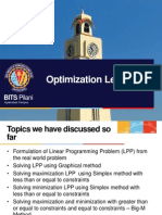 A lecture on optimization
