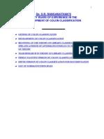 Genesis of Colon Classification