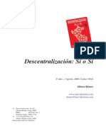 Klauer, Alfonso - Descentralización Sí o Sí