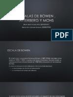 Escalas de Bowen , Atterberg y Mohs
