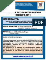 Afiche Postulación Crédito Complementario 2014