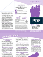 Early On Family Rights Brochure (ENGLISH) Updated