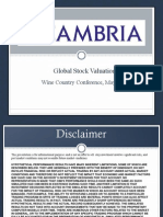 Mebane Faber Global Stock Valuation Wine Country Conference May 2014