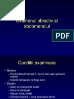Examenul Obiectiv Al Abdomenului
