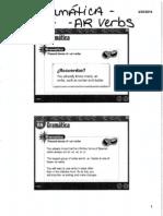 Scanned Grammar Slides AR Verbs