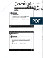 Scanned Grammar Slides Subject Pronouns