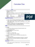 Curriculum Vitae (English)