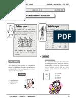 III Bim - 4to. Año - Guía 4 - Multiplicación y División
