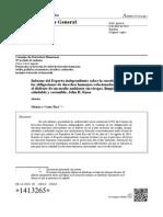 Informe del Experto independiente sobre la cuestión de las obligaciones de derechos humanos relacionadas con el disfrute de un medio ambiente sin riesgos, limpio, saludable y sostenible, John H. Knox, Misión Costa Rica 2014