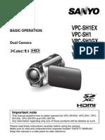 Sanyo Xacti Vpc-sh1ex User Manual